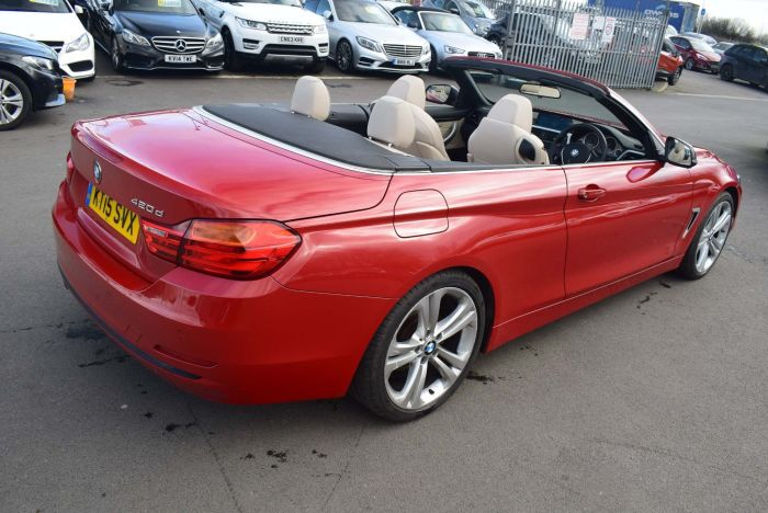 BMW 4 Series 2.0 420d Sport 2dr Auto Convertible Diesel Red