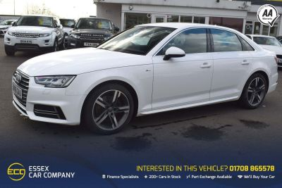 Audi A4 2.0 TFSI S line S Tronic (s/s) 4dr Auto Saloon Petrol WhiteAudi A4 2.0 TFSI S line S Tronic (s/s) 4dr Auto Saloon Petrol White at Motor Finance 4u Tunbridge Wells