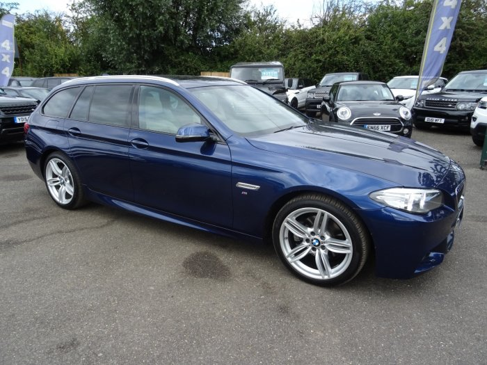 BMW 5 Series 2.0 520d M Sport Touring Estate Diesel Blue