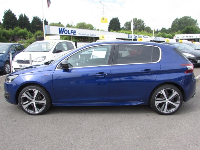 Peugeot 308 1.2 Pure Tech Ss  130ps GT Line 1197cc 5dr Hatchback Petrol Blue