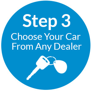 Step 3 Choose your car from any dealer